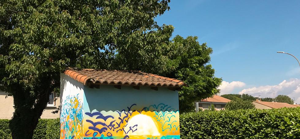 Atelier graff sur un bâtiment extérieur