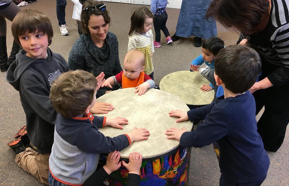Family drum circle