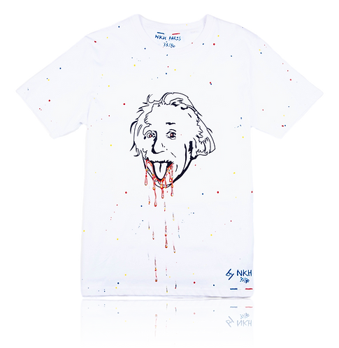 Tee-shirt blanc - Crazy Einstein