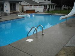 Pool Deck w concrete coping