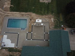 Drone picture of a large decorative job.
