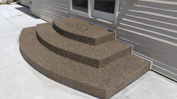 Exposed Aggregate Steps with Stencil