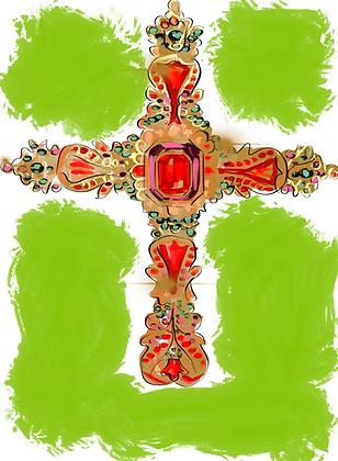 Bejeweled Cross