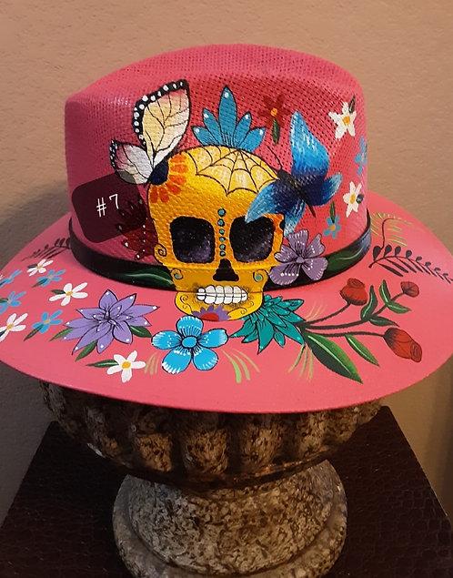 Handmade painted hat