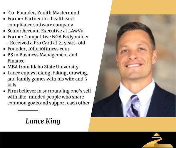 Lance King Zenith Bio.png