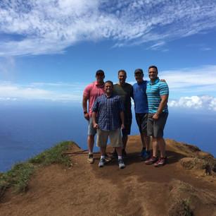 The Gang on Hawaii Cliff.JPG