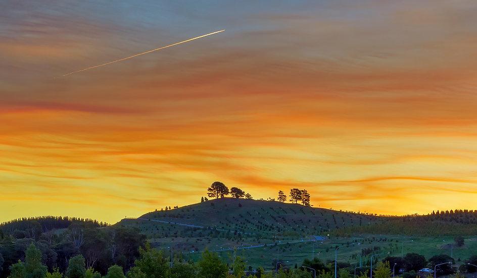 Vibrant Sunset - Dairy Farmer Hill, National Arboretum Canberra