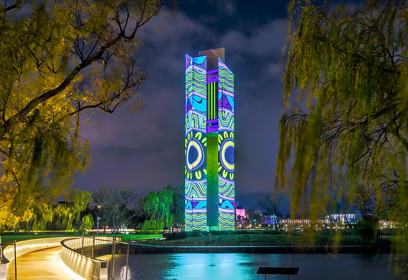 National Reconciliation week 2020 projection on National Carillion