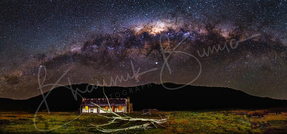 Star party over Orroral Valley - Namadgi National park - Panoramic