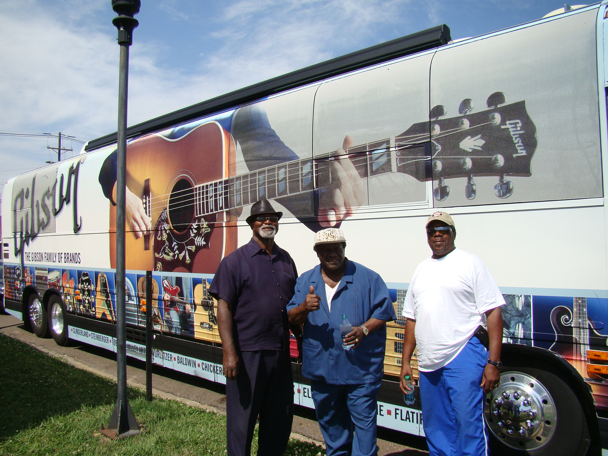 Abdul, King & Rick with The Gibson Bus