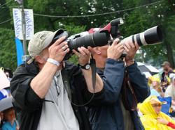Mike & Jean Pierre - photo journalists
