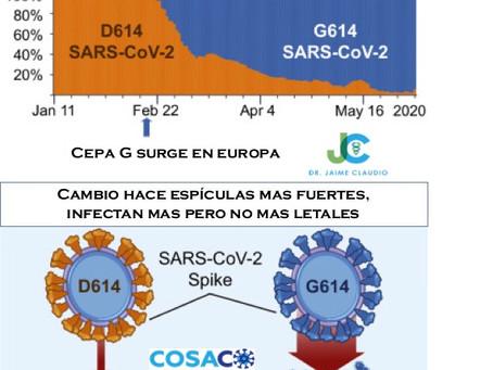 Cambio Global de Cepa Dominante en COVID-19