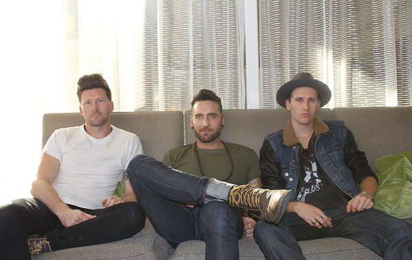 Stephen Christian, Christian McAlhaney, and Nate Young of Anberlin