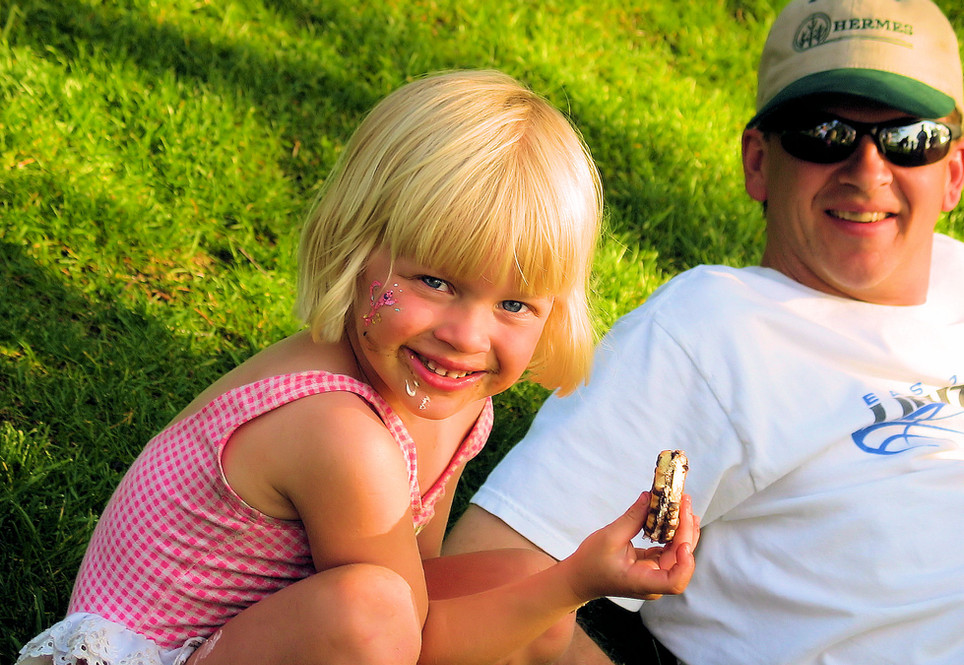 The marshmallow roast is a favorite among kids and parents