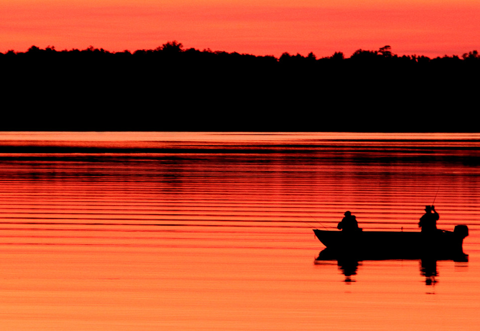 Fishing at sunset is a highlight for many