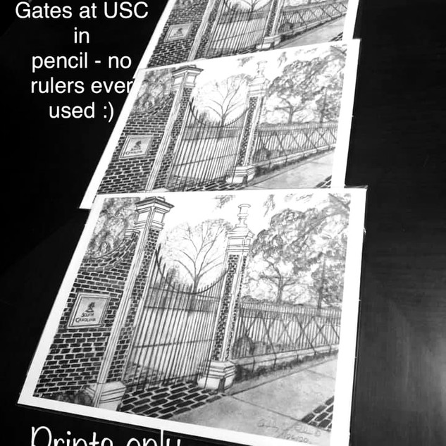 """USC Horseshow Gates"" by Ashley Brickner"