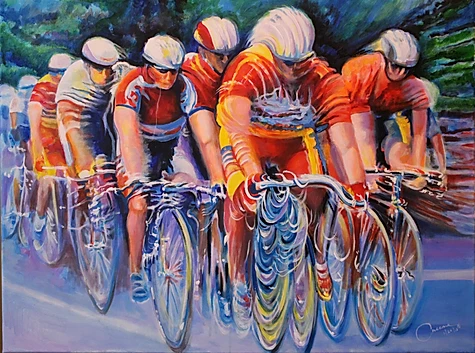 """Cyclist Series 2"" by Ed Cascone"