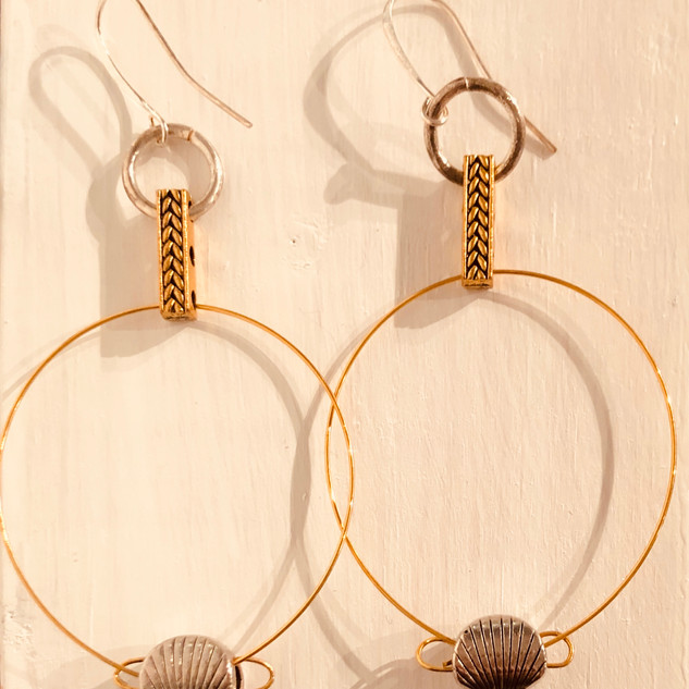 """Cirecle Wire Earrings"" by Lucretia Albright"