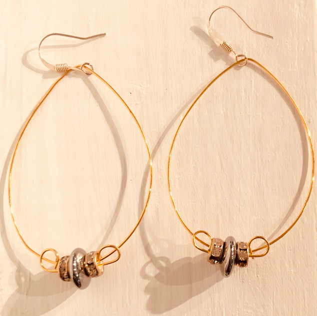 """Tear Drop Wire Earrings"" by Lucretia Albright"