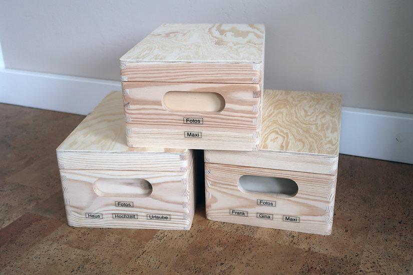 Fotokiste aus Holz