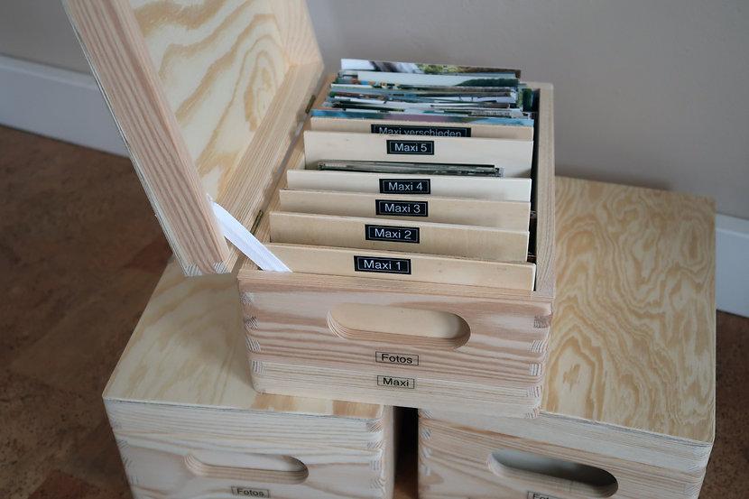 Fotokiste aus Holz mit Deckel