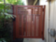 Custom pedestrian gate by SNJ Supply, Hawaii Knotwood Installer
