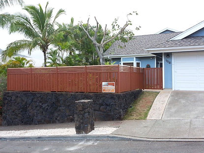Custom fence by SNJ Supply, Hawaii Knotwood Installer
