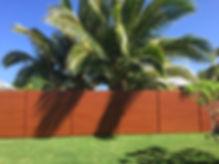 "6"" slat horizontal fence by SNJ Supply, Hawaii Knotwood Installer"