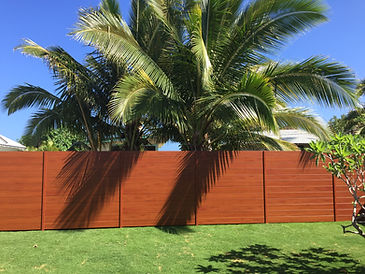 "6"" slat horizontal fence by SNJ Supply, Hawaii Knotwood Installer"