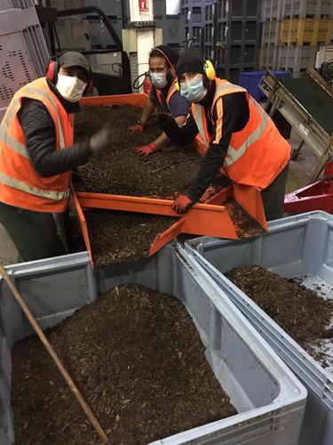 Criblage du compost