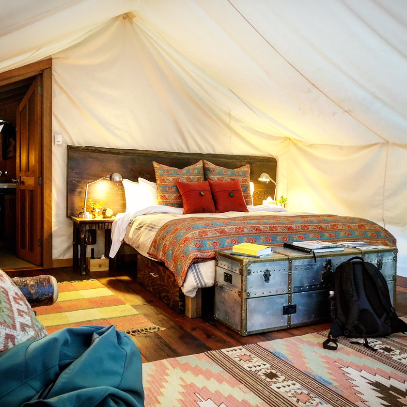 Glamping at the Clayoquot Resort....