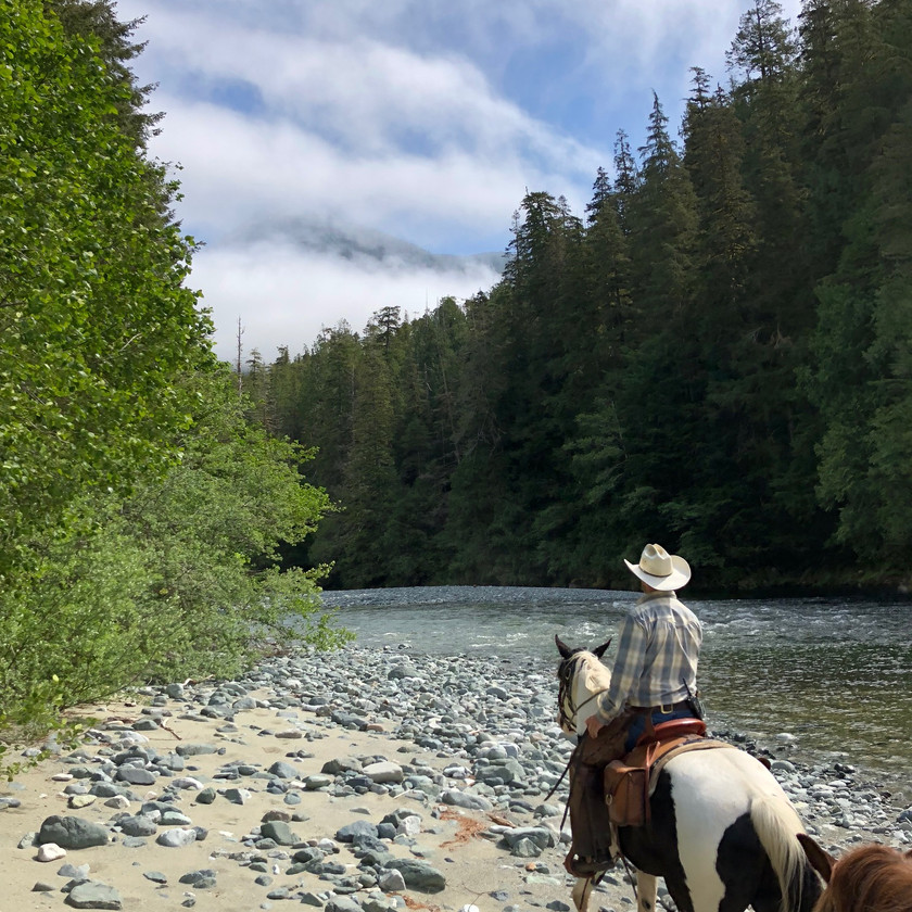 Riding at the Clayoquot Resort