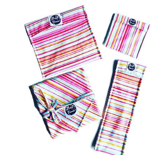 Rainbow Stripe, Ultimate Reusable Set