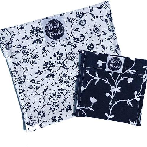 Black Bloom, Reusable Snack Bag