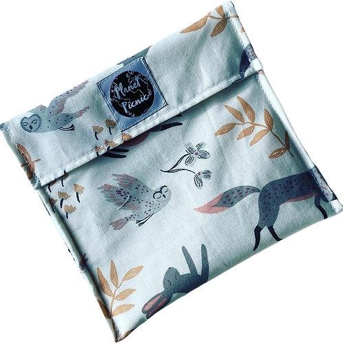 Wildlife, Reusable Sandwich Bag