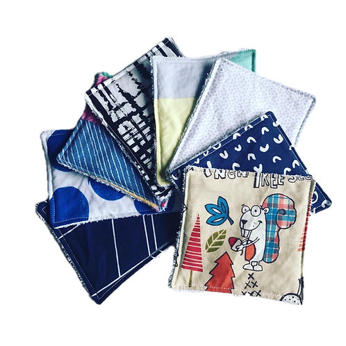 Reusable Wipes - Set of 8