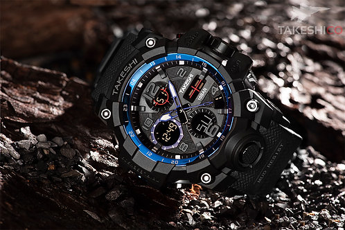 TakeshiCo TK26BB Sport Water Resistant Watch