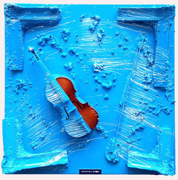 Moz'Art bleu drapeau