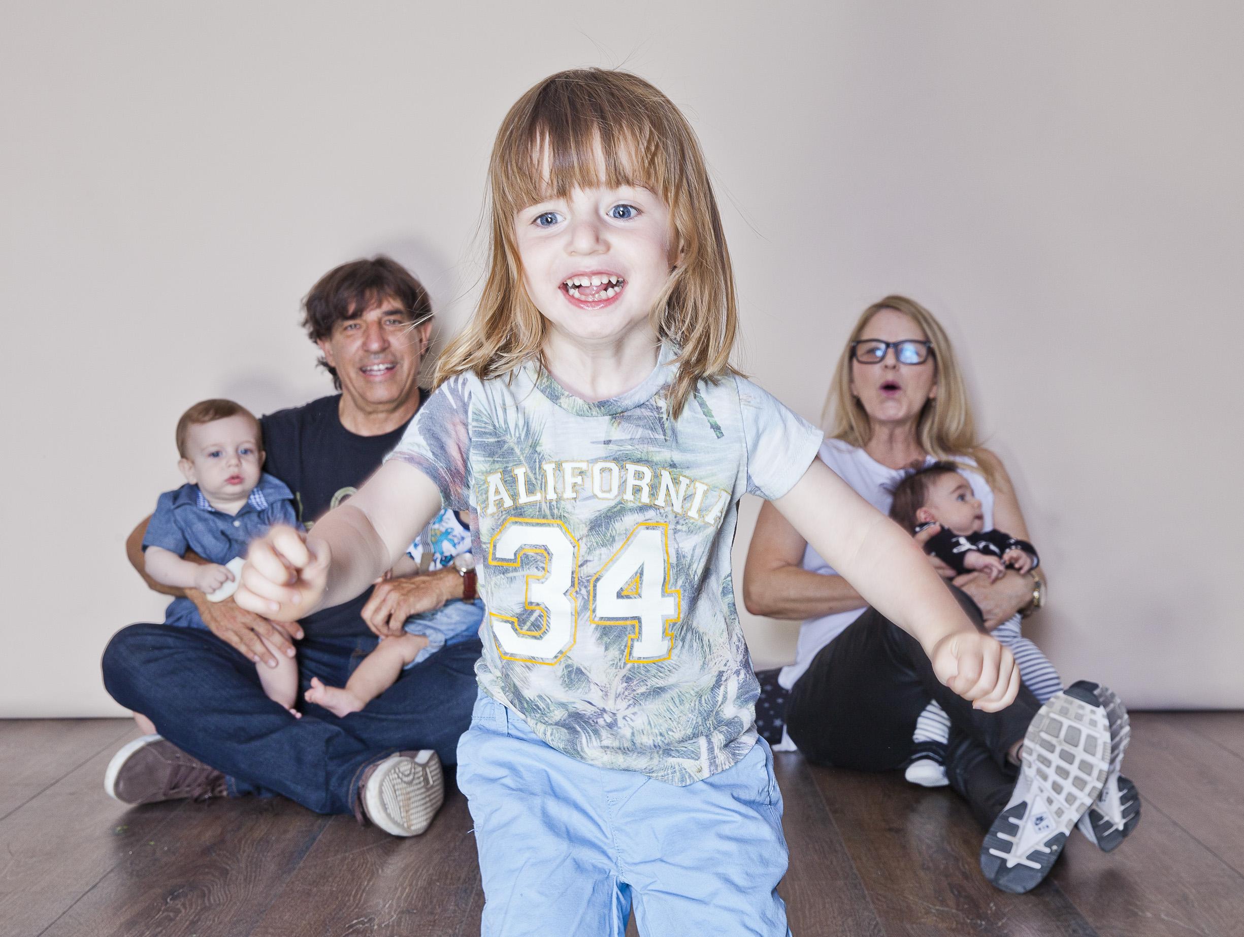 דיוקן משפחה ,בסטודיו לצילום