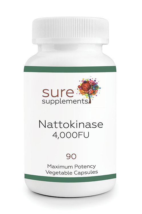 Nattokinase Enzyme 4,000FU Vegetable Capsules