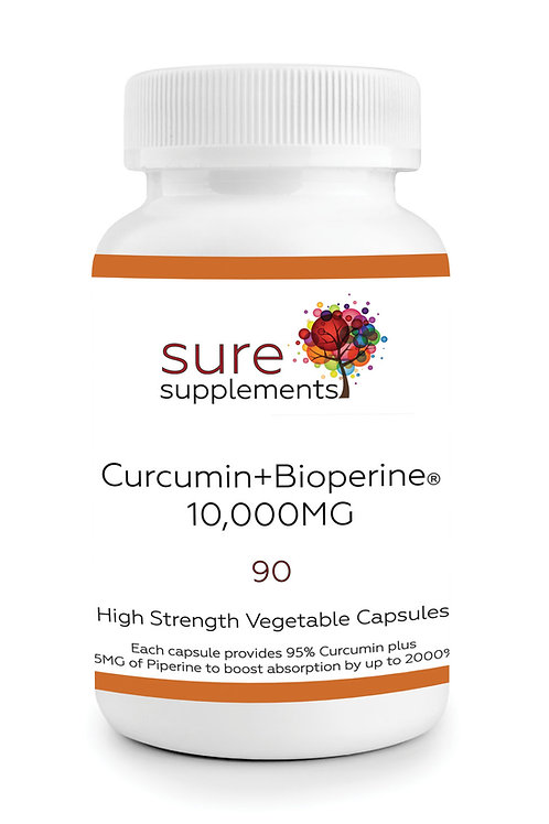 Curcumin+Bioperine® 10,000MG Easy Swallow Tablets