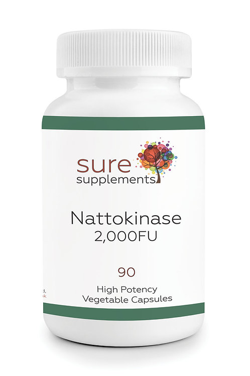 Nattokinase Enzyme 2,000FU Vegetable Capsules