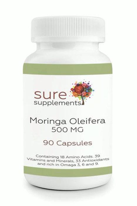 500mg Moringa Oleifera Capsules