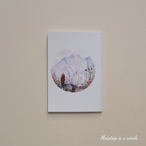 Mountain in a circle Notebook