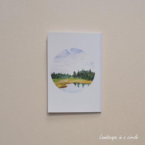 Landscape in a circle Notebook