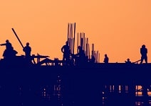 Civil Construction-silhoutte of workser