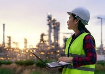 energy audit - woman petrochemical engin