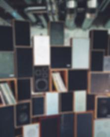 speakers and vinyl records