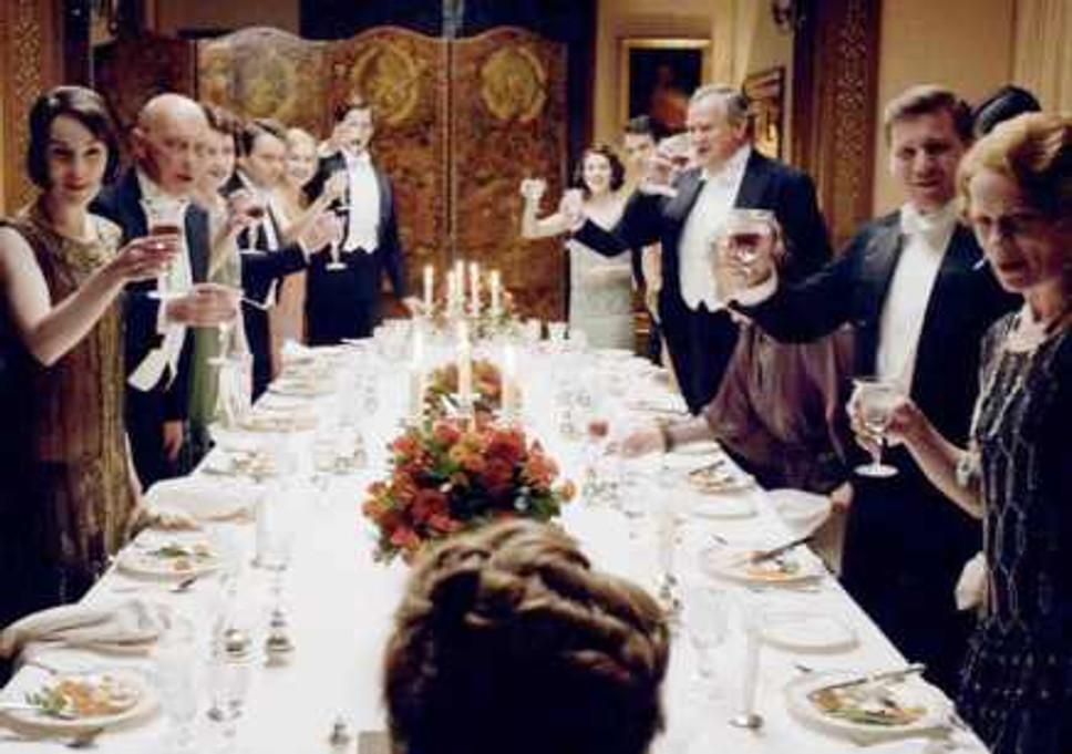 Polite society at dinner