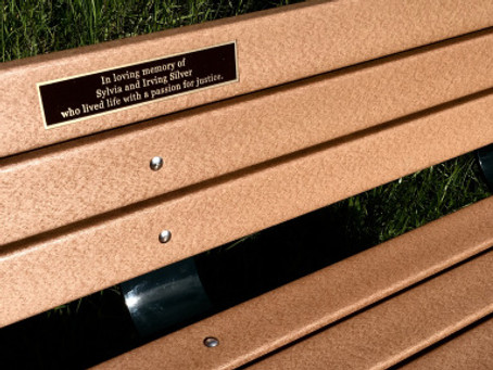 What will your bench say?
